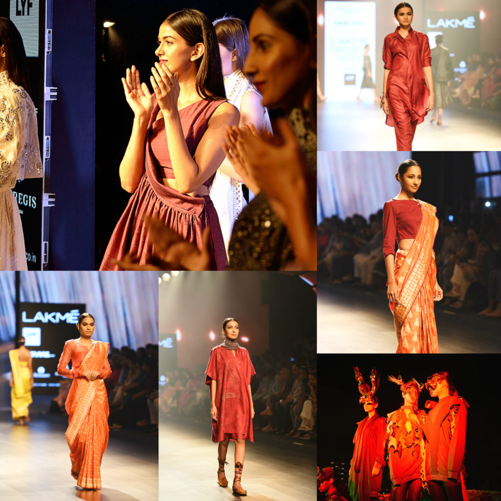 red, fire, flame, red, elements of nature, lakme fashion week, mumbai, india, fashion, designers, photographers, models