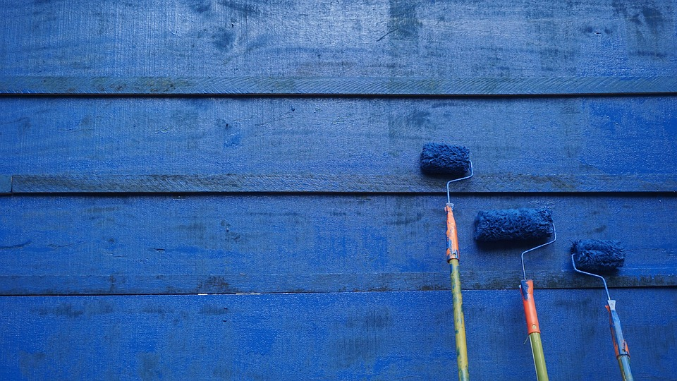 this is the image of a wall being painted with paint using a roller. Painting teaches us about life